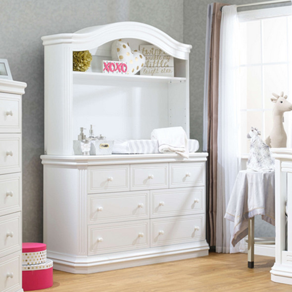 Sorelle Vista Elite Supreme Double Dresser in White