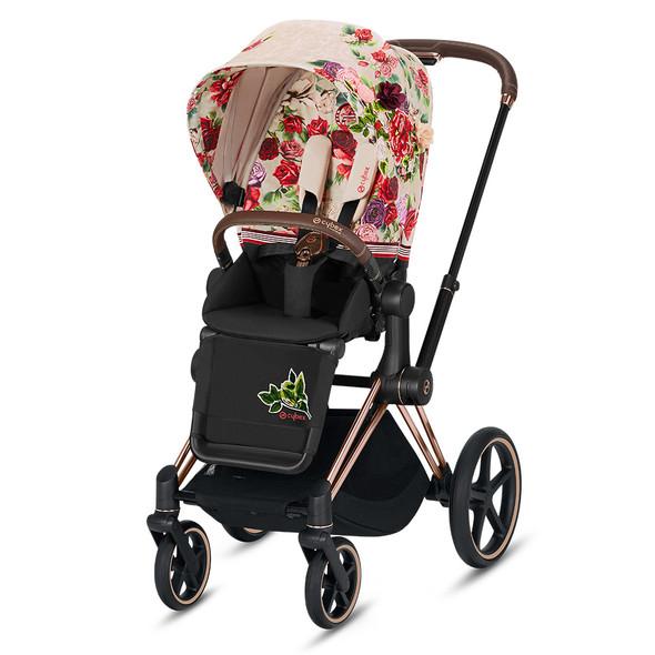 Cybex ePriam Rosegold Priam Stroller  - Spring Blossom - Light Beige
