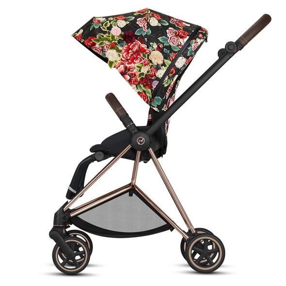 Cybex Priam Rosegold Priam Stroller - Spring Blossom - Black
