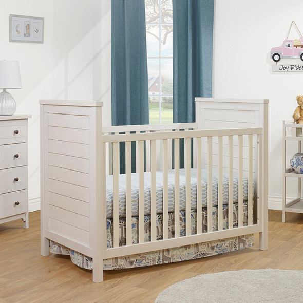 Sorelle Farmhouse Classic Crib in Weathered White