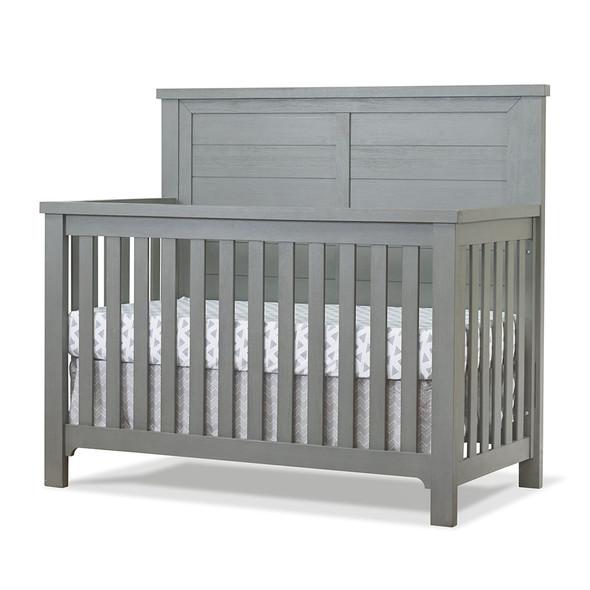 Sorelle Farmhouse 2 Piece Nursery Set - 4 in 1 Crib and Double Dresser in Grigio
