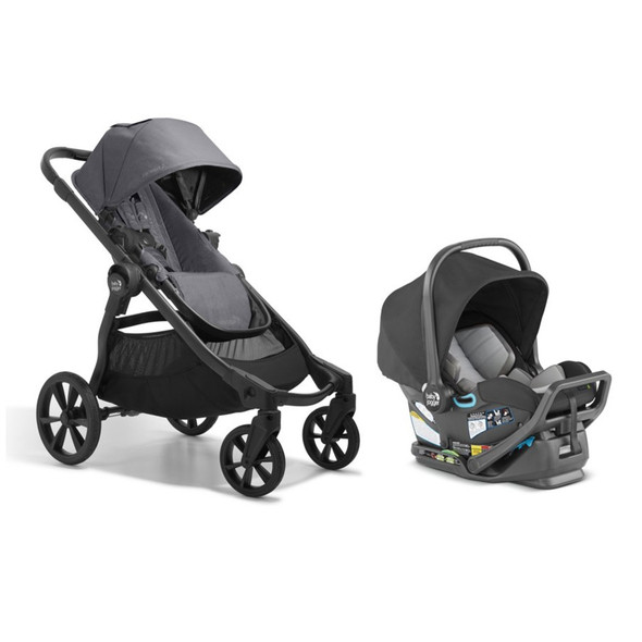 Baby Jogger City Select 2 + City GO 2 Travel System in Radiant Slate