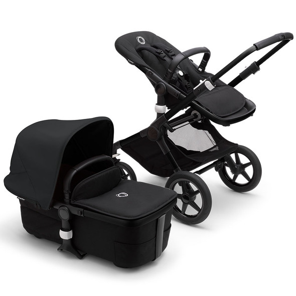 Bugaboo Fox3 Complete Stroller in Black/Midnight Black-Midnight Black