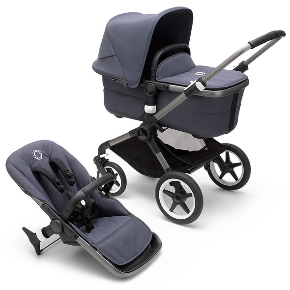Bugaboo Fox3 Complete Stroller in Graphite/Stormy Blue-Stormy Blue