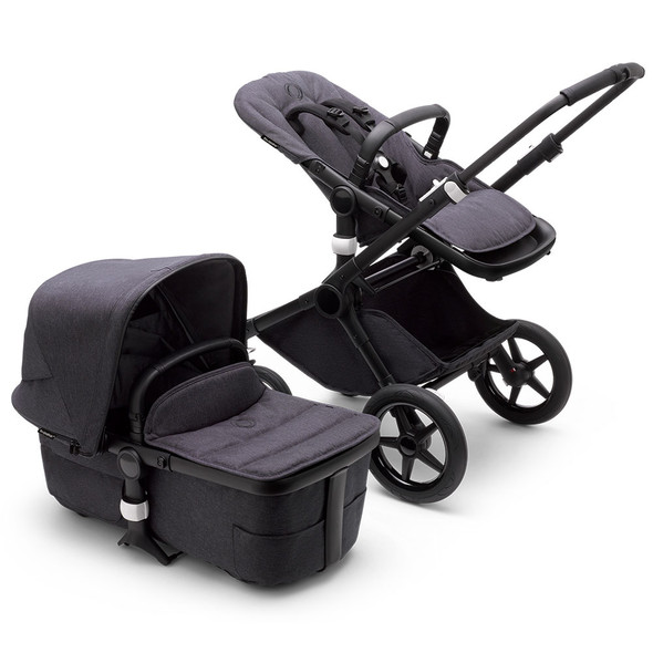 Bugaboo Fox3 Refined Complete Stroller in Black/Washed Black