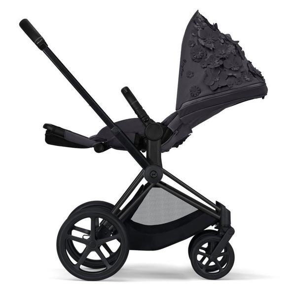 Cybex Priam 3 Matte Black frame - Simply Flowers - Dream grey