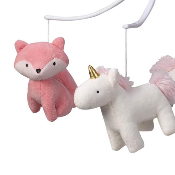 Bedtime Originals Rainbow Unicorn Musical Mobile - Plays 20 minutes