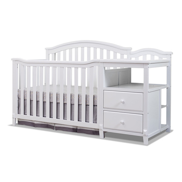 Sorelle Berkley Crib & Changer Panel Crib in White