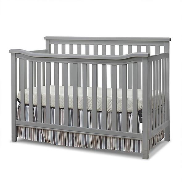 Sorelle Berkley Flat Top Crib in Weathered Gray