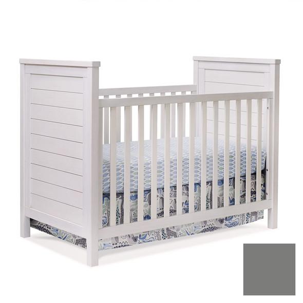 Sorelle Farmhouse Classic Crib in Weathered Gray