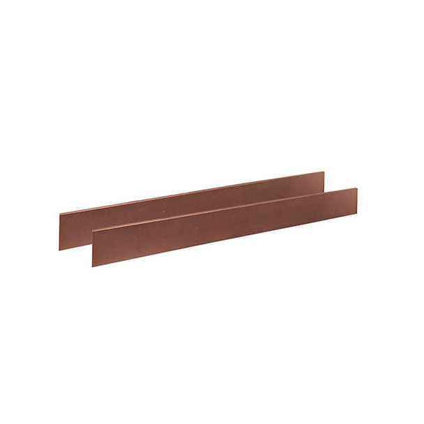 Natart Bella Collection Double Bed Conversion Rails for Bella Crib in Walnut