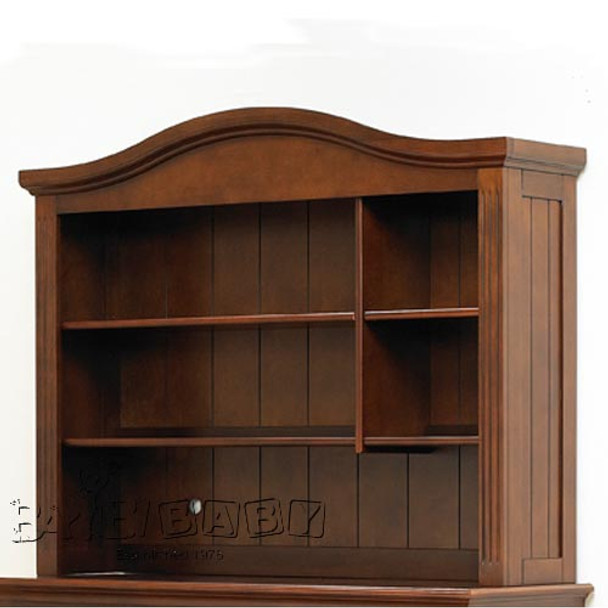 Sorelle Vista Collection Hutch with Light in Mocha Cafe