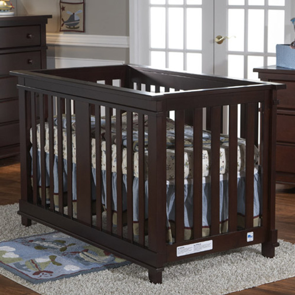 Pali Lucca Collection Forever Crib in Mocacchino