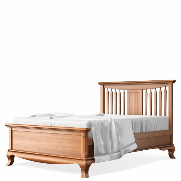 Romina Antonio Collection Full Bed with Slatted Headboard in Bruno Antico