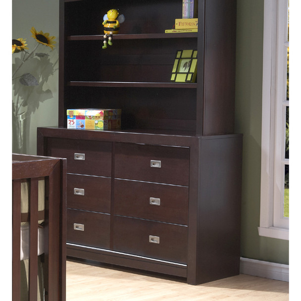 Pali Novara Collection 6 Drawer Double Dresser in Mocacchino