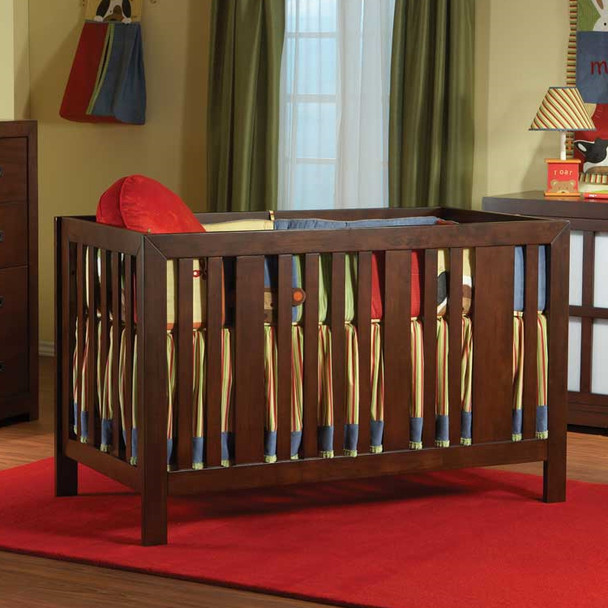Pali Novara Collection Imperia Forever Crib in Vintage Cherry