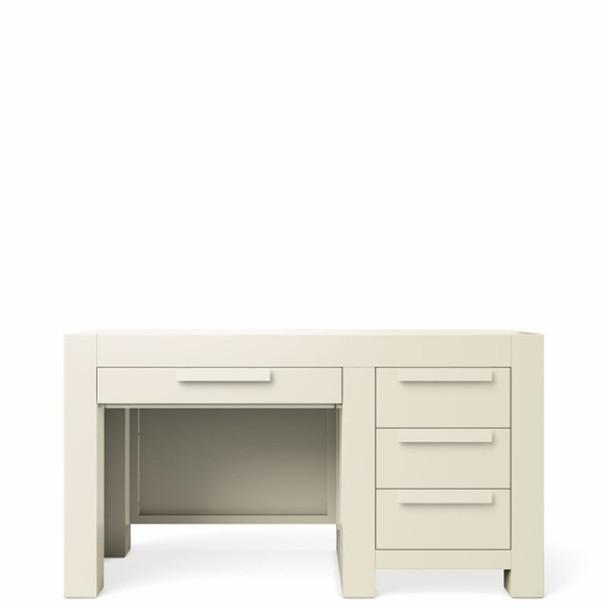 Romina Ventianni Collection Four Drawers Desk in Bianco Satinato