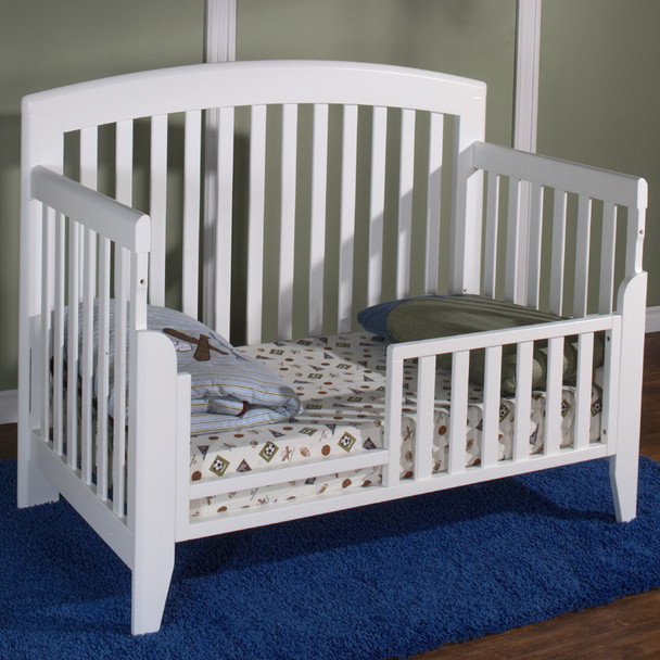 Pali Gala Collection toddler rail for Forever crib in White