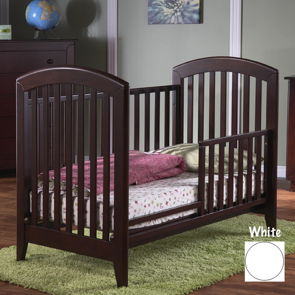 Pali Gala Collection toddler rail for crib in White