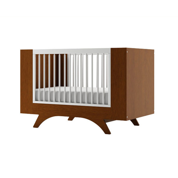 Dutailier Melon Crib - Two Tone - Harvest and White