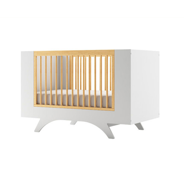 Dutailier Melon Crib - Two Tone - White and Natural