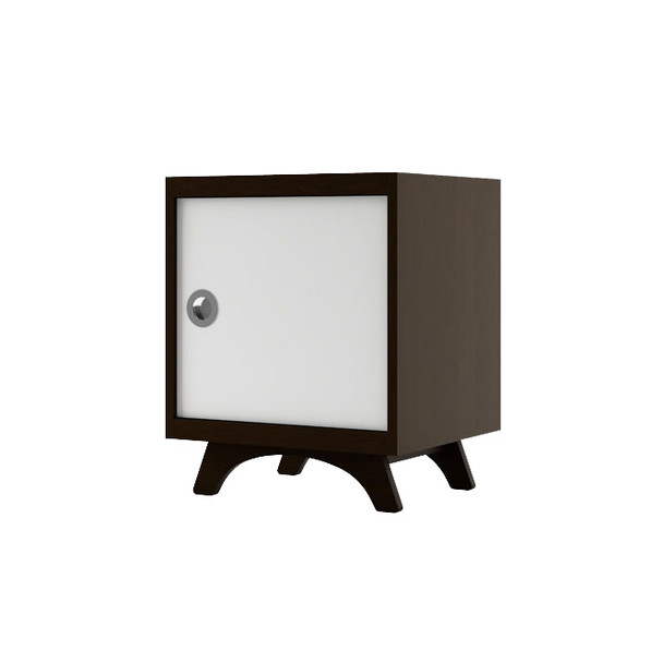 Dutailier Melon Night Stand - Espresso and White