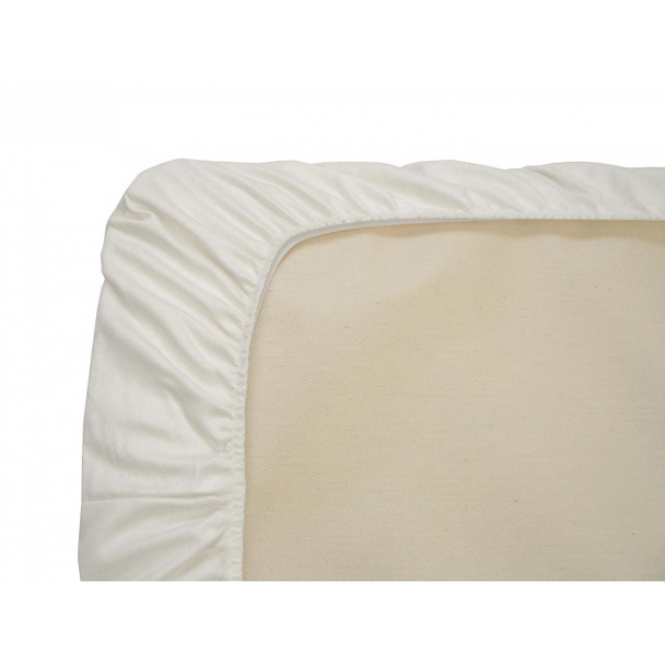 Naturepedic Crib Sheet - White Sateen