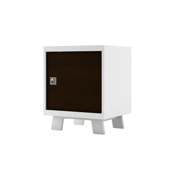 Dutailier Pomelo Night Stand - White and Espresso