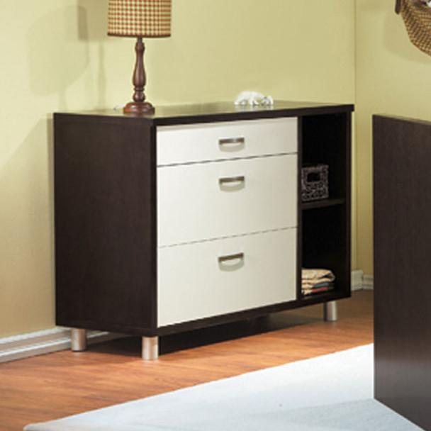 Pali Milano Collection Dressing Chest in White and Mocacchino