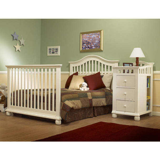 Sorelle Full Size Bed Conversion Kit in French White