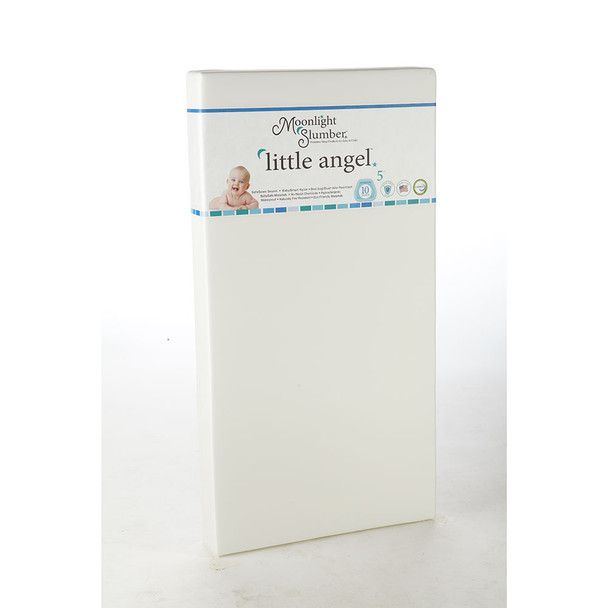 Moonlight Slumber Little Angel All Foam Crib Mattress - One Firmness w/Blue Ribbon