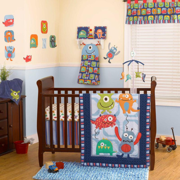 CoCo and Company Monster Buds Four Piece Bedding Set