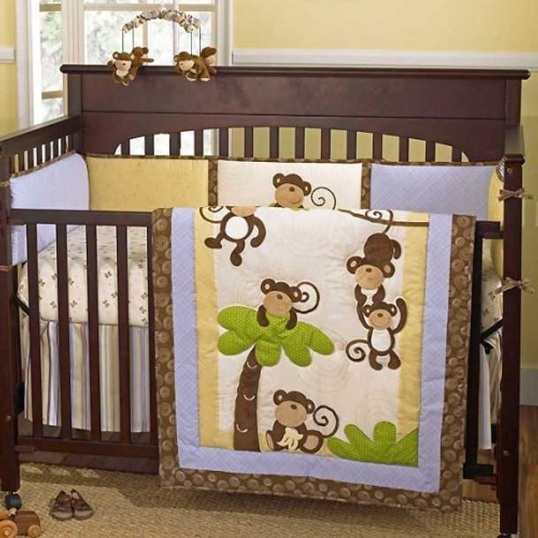 CoCo and Company Monkey Time Crib Bumper