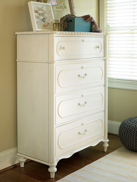 Smart Stuff Bellamy Drawer Chest in Daisy White