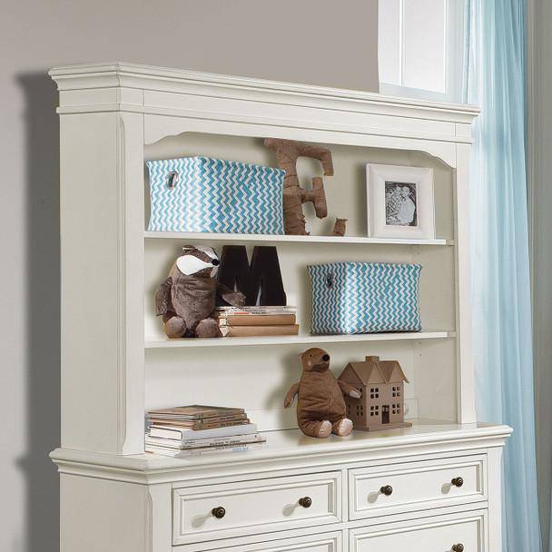 Stella Baby and Child Athena Collection Hutch/Bookcase in Belgium Cream