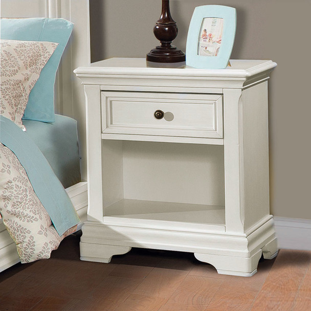 Stella Baby and Child Athena Collection Nightstand in Belgium Cream