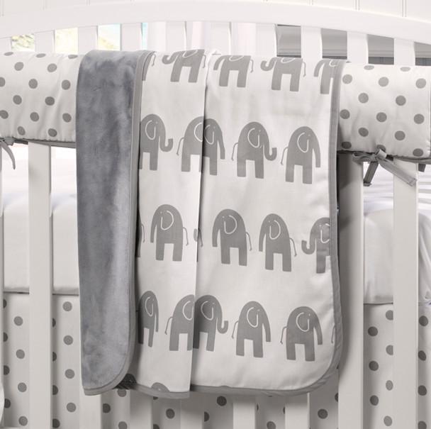 Liz and Roo Gray Blankets Minky Blanket