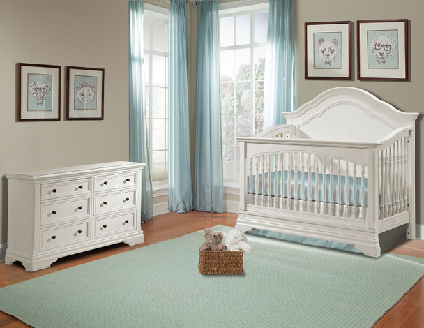 Stella Baby and Child Athena 2 Piece Nursery Set in Belgium Cream-1