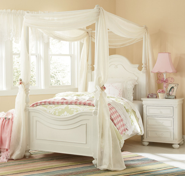 Legacy Classic Kids Charlotte Full Size Low Poster Bed with Canopy