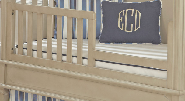 Brixy Haven Toddler Rail for Cottage Crib in Heather Grey