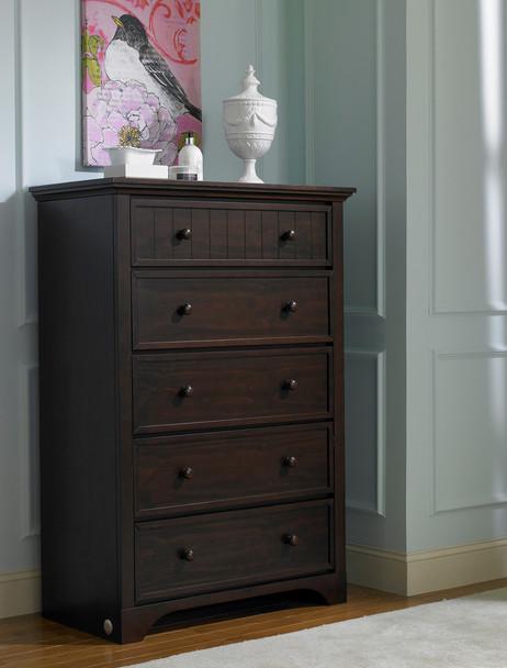Fisher Price Lakeland 5 Drawer Dresser in Espresso