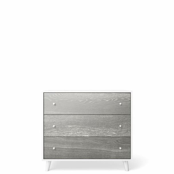 Romina New York 3 Drawers Dresser in Silver Frost