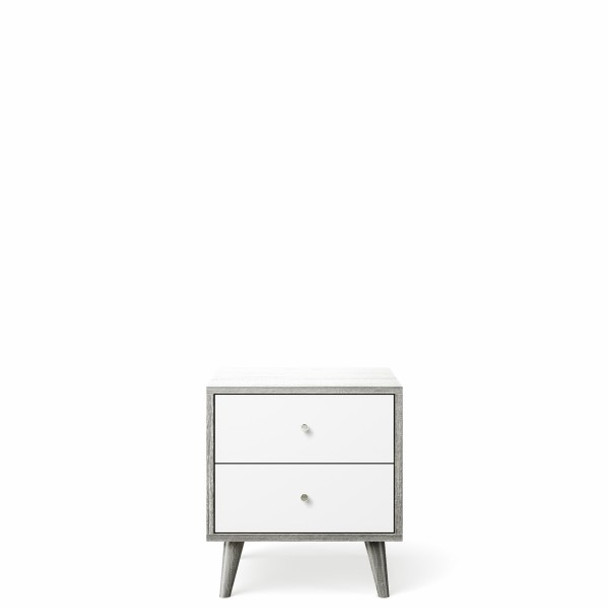 Romina New York Nightstand in Silver Frost