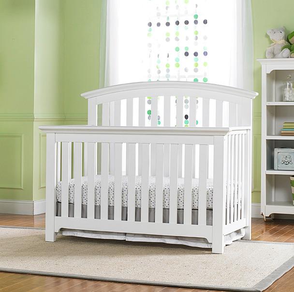 Ti Amo Baci Convertible Crib in Snow White