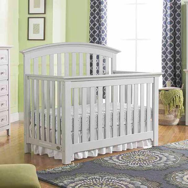 Ti Amo Baci Convertible Crib in Misty Grey