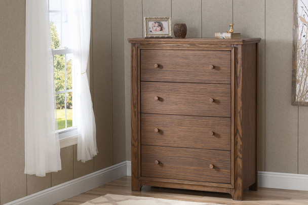 Serta Langley 4 Drawer Chest in Rustic Oak