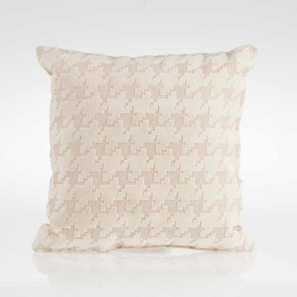 Glenna Jean Fly-By Pillow in Cream Houndstooth