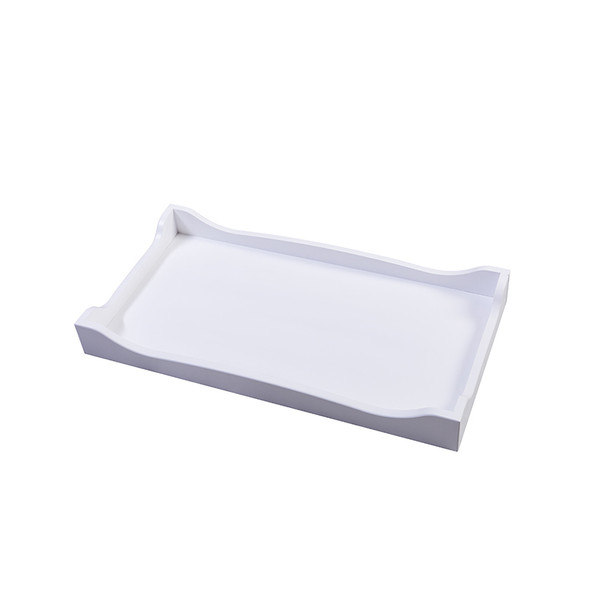 Silva Scalloped Changing Tray in White