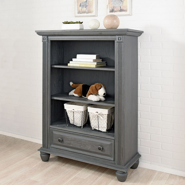 Oxford Baby London Lane Bookcase in Arctic Gray