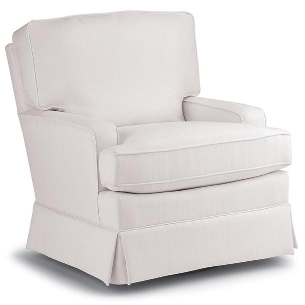 Best Chairs Charlotte Swivel Glider - Snow